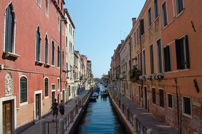 Venice Canal With Walkways