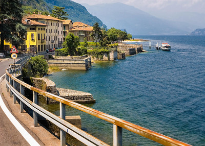 Richards__Lake Como on the road to Bellagio