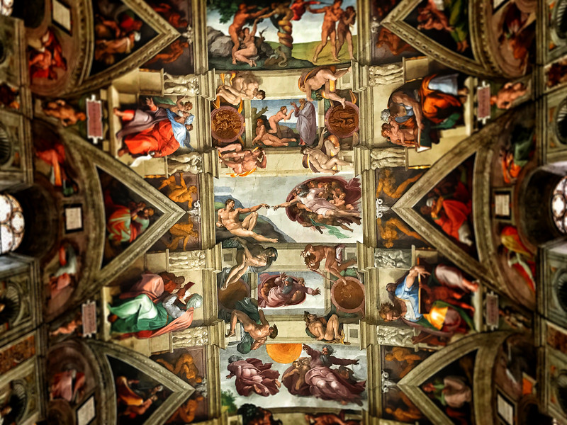 The Sistine Chapel Ceiling by Michelangelo. 2017.