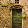 Ancient Green Door & Window, Montisi, Tuscany