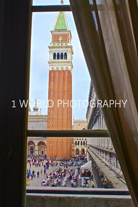 (Looking out at San Marco Square from inside the museum)   The Museo Correr is located in St. Mark's Square with collections donated to the city of Venice in 1830 by Teodoro Correr, together with the family's Grand Canal palace which houses the museum.