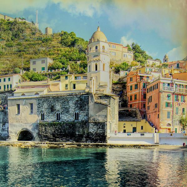 Vernazza Clock Tower Cinque Terre, Italy