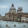 Looking across the canal at Basilica di Santa Maria della Salute in Venice, Italy.