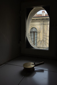 ash tray in window, Florence, IT