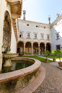 Courtyard in Magno Palazzo in Buonconsiglio Castle