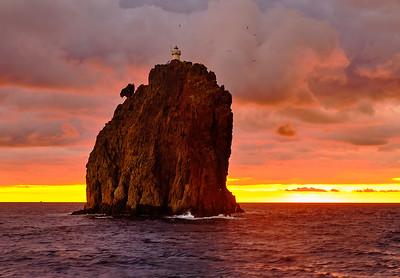 Lighthouse on a heavy rock