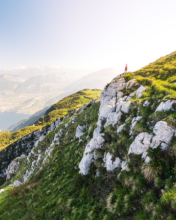Morning view on the monte baldo