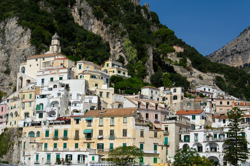 Like many towns along the coast, Amalfi is built into the side of the mountain and down to the shoreline.