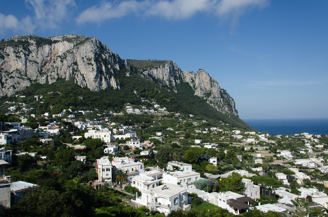 After we returned from the Blue Grotto, we rode the Funicolare from the marina up to Capri Town.