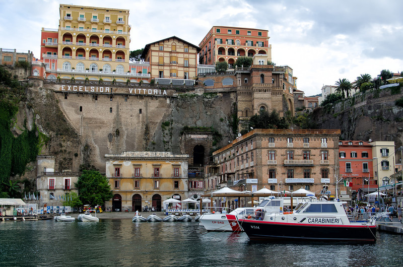Arriving back in Sorrento by boat from Positano.