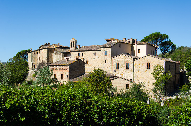 Castel Monastero is an 11th Century monastery and village that is now a beautiful hotel/spa.