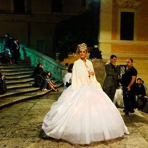 Bride on the Spanish Steps