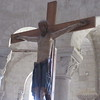 wooden 12 th c crucifix Sant' Antimo Abbey