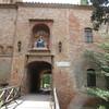 entering Benedictine abbey  Oliveto Maggiore sept 11