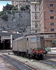 FS E636.367 is seen running light engine at Genova Porta Principe on 16 May 1989