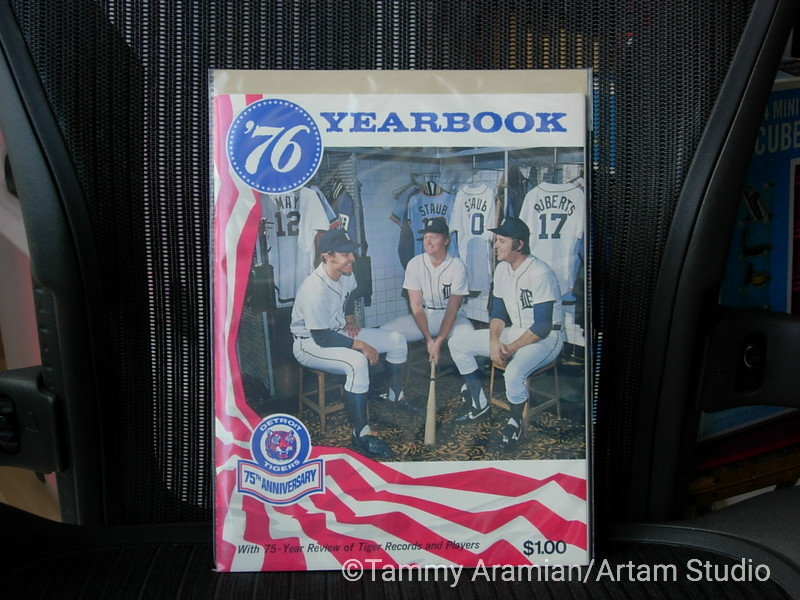 1976 Detroit Tigers yearbook - 75th anniversary
