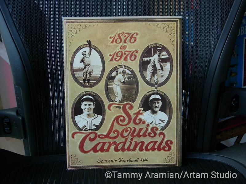 1976 St. Louis Cardinals yearbook - centennial