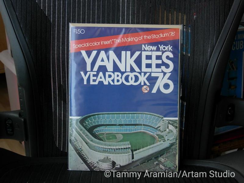 1976 New York Yankees yearbook - Yankee Stadium