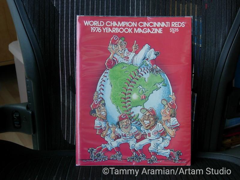 1976 Cincinnati Reds yearbook - 1975 World Champs