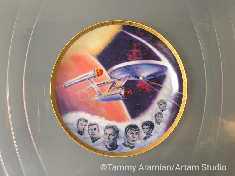 1983 Enterprise plate, front