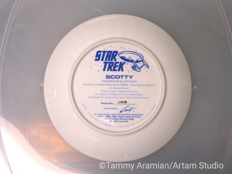 1983 Scotty plate, back