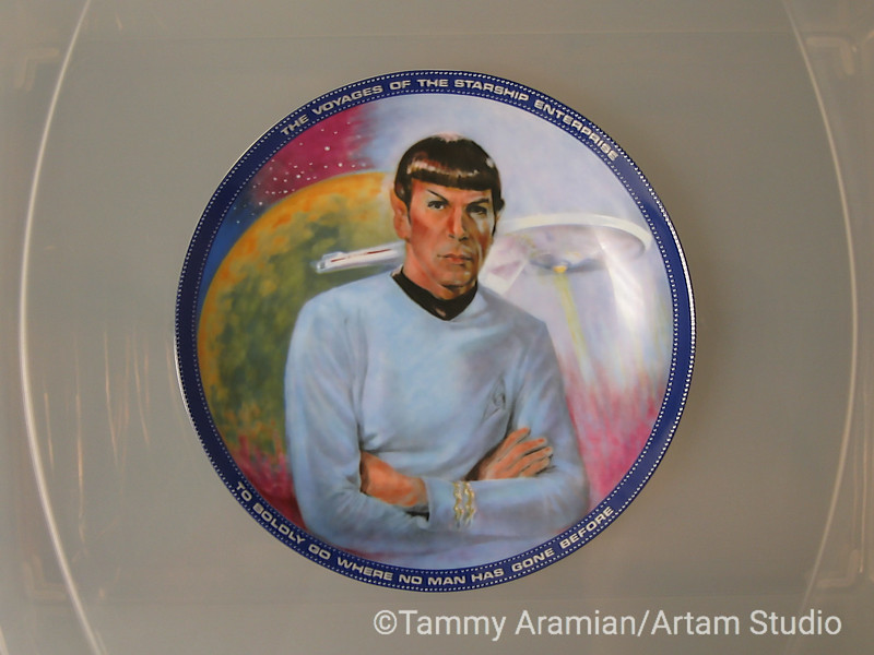 1983 Spock plate, front