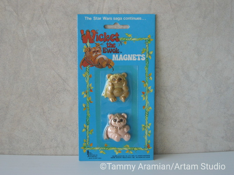 1983 Return of the Jedi Ewok magnet 2-pack; mint on card. <br /> $9