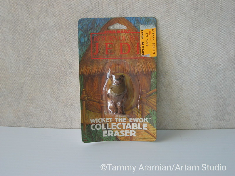 1983 Return of the Jedi Wicket the Ewok 3D eraser; mint on card. <br /> $8