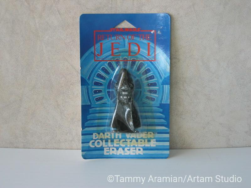 1983 Return of the Jedi Darth Vader 3D eraser; mint on card. <br /> $10