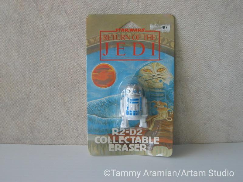1983 Return of the Jedi R2D2 3D eraser; mint on card. <br /> $9