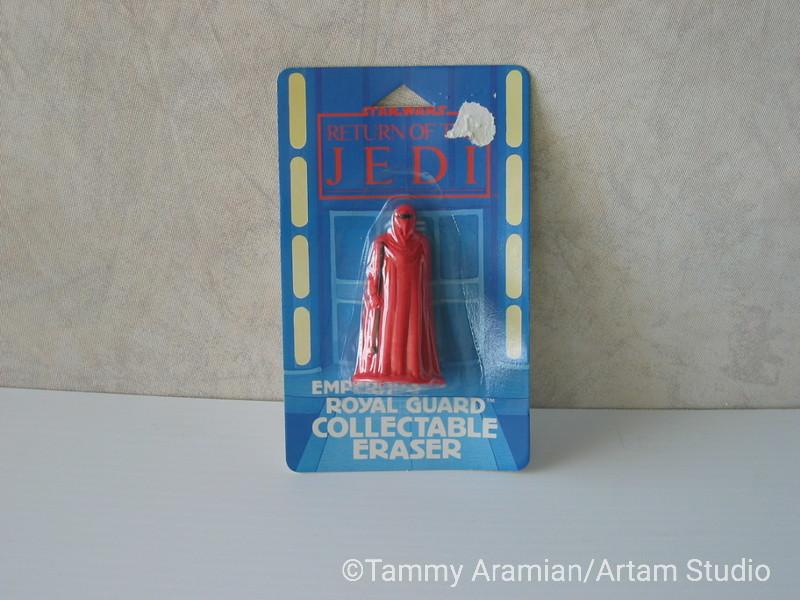 1983 Return of the Jedi Royal Guard 3D eraser; mint on card. <br /> $10