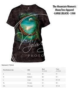 The Mountain Women's Moon Tree Apparel -LARGE (BLACK) - $180