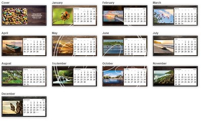 2020 desktop calendars (8x3 5inches)- All Months