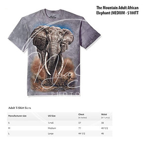 The Mountain Adult African Elephant (MEDIUM - $180TT