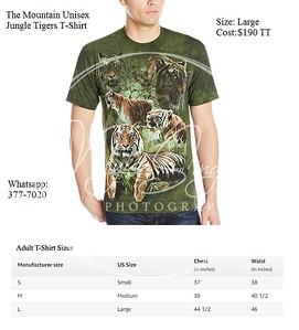 The Mountain Unisex Jungle Tigers T-Shirt (LARGE) - $190TT