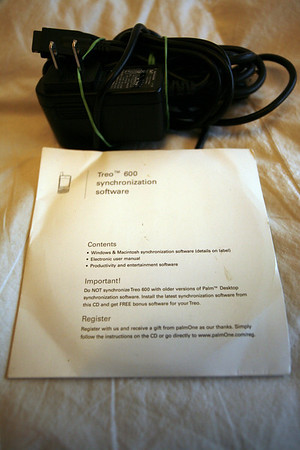 TREO 600, phone, charger, synch cable, software, bundle, for sale, $25