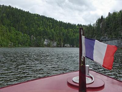 Sur le lac de Moron entre le saut du Doubs et Les Brenets