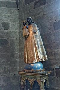 Crypte des Gros Piliers - Vierge noire