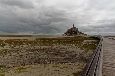 Le Coesnon, le Mont et la nouvelle passerelle