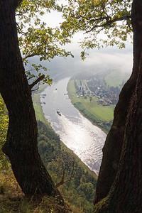 Elbe vue du Bastei