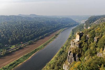 Elbe vers l'aval