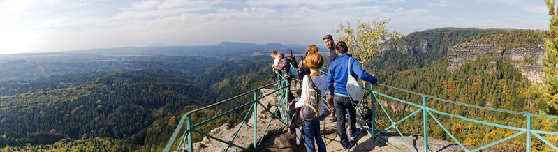 Panorama ouest - Elbsandsteingebirge