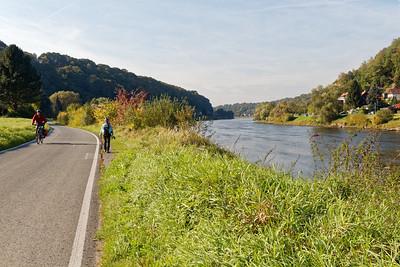 Le long de l'Elbe