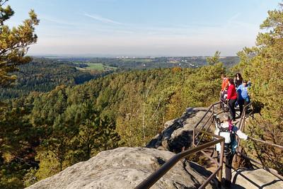 Crêtes du Rauenstein - Au loin Wehlen & Pirna