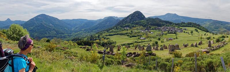 Le Tchier de Borée, les Rochers, Mt Gerbier, Suc de Sara, Mézenc