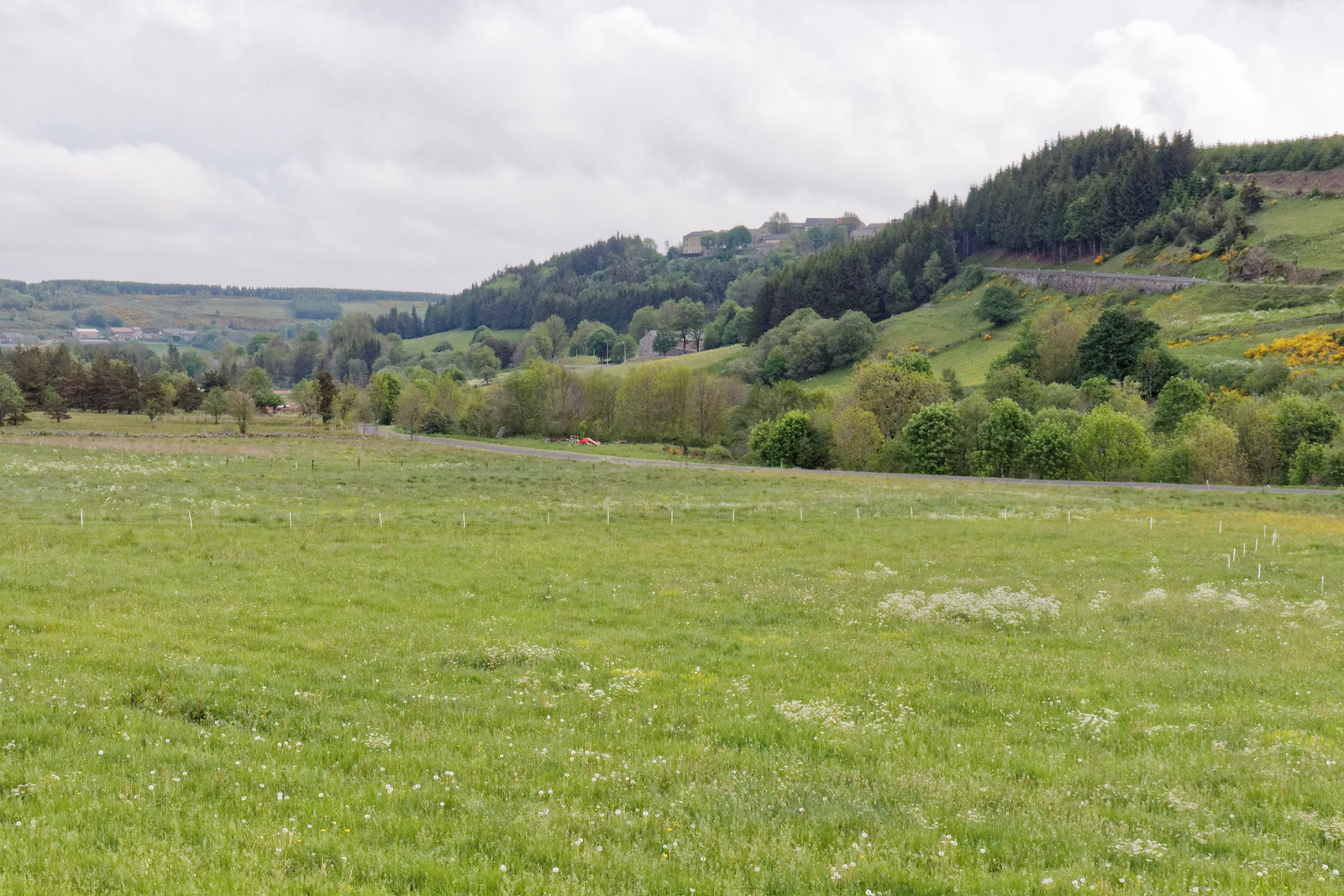 En quittant Fay sur Lignon, vallée du Lignon