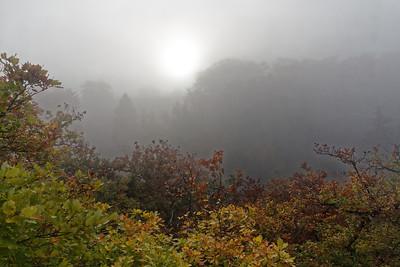 Fladenberg dans la brume