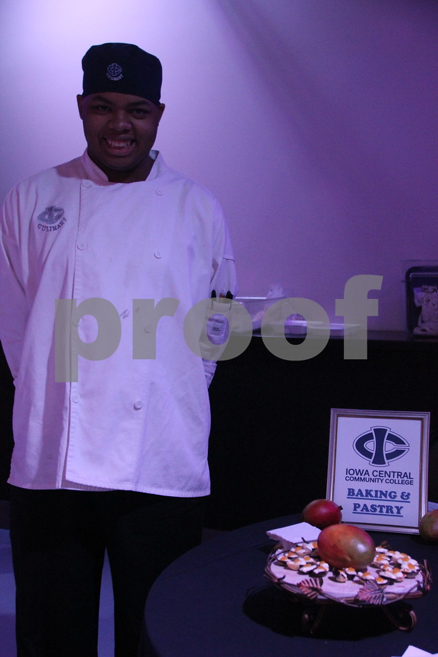 It's A Chocolate Thing was held at Fort Frenzy in Fort Dodge on Sunday, November 8, 2015. Seen here is A Akeem Vaughns. He took part as one of many Iowa Central Community College Culinary Arts Student vendors providing sweet confections made from scratch.