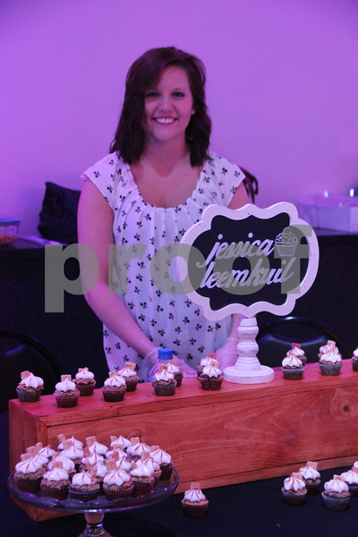 It's A Chocolate Thing was held at Fort Frenzy in Fort Dodge on Sunday, November 8, 2015. Pictured here is: Jessica Leemkuil,  one of many vendors providing sweet confections made from scratch at the event.