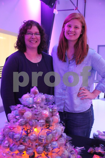 It's A Chocolate Thing was held at Fort Frenzy in Fort Dodge on Sunday, November 8, 2015. Seen here is (left to right) Corrie Mork and Beth Mork. They took part as one of many vendors providing sweet confections.
